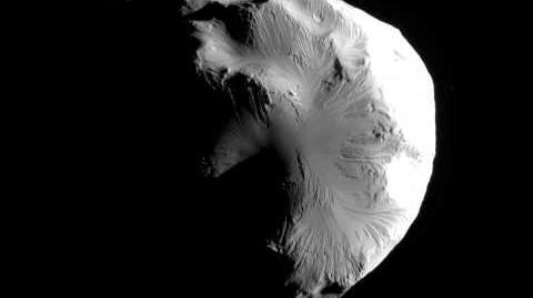 Cassini's June 2011 Helene flyby (bounces 3 times)