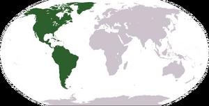 Америка на карте мира