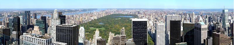 Вид Центрального парка в Нью-Йорке