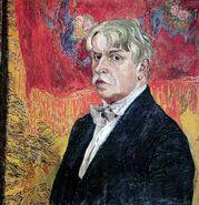 Alexandr Golovin self-portrait