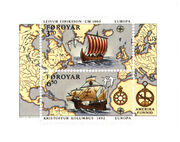 Faroe stamps 225-226 Discovery of America