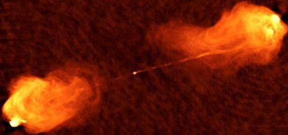Горячие точки активных ядер галактик