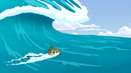 Two and Pig Surfing
