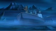 The gang going to magic island