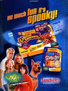 Scooby Doo Movie Lunchables advertisement NIckelodeon Magazine June July 2002
