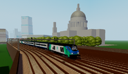Class 68 passing Stepford Cathederal