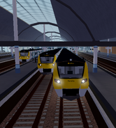 Class 707s at Stepford Central