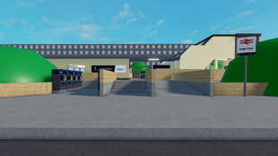 New Entrance next to Platform 1