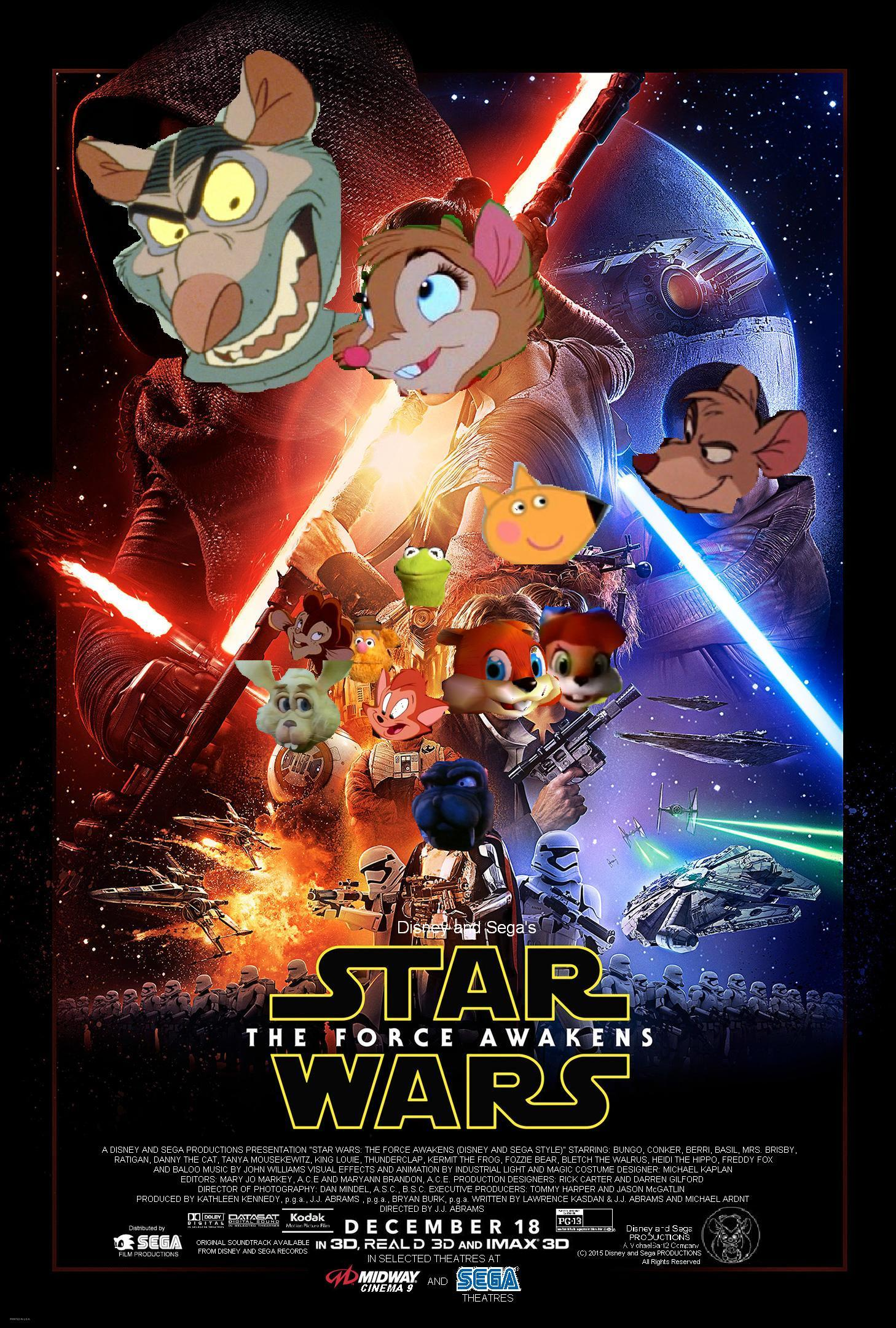 Star Wars Episode 7: The Force Awakens (Disney and Sega Style)