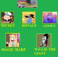 Dipper Pines and the Beanstalk Cast Meme