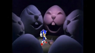 Sonic is Dreaming of Easter Eggs with Faces on It