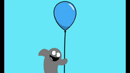 Bloo Flys up with a Balloon