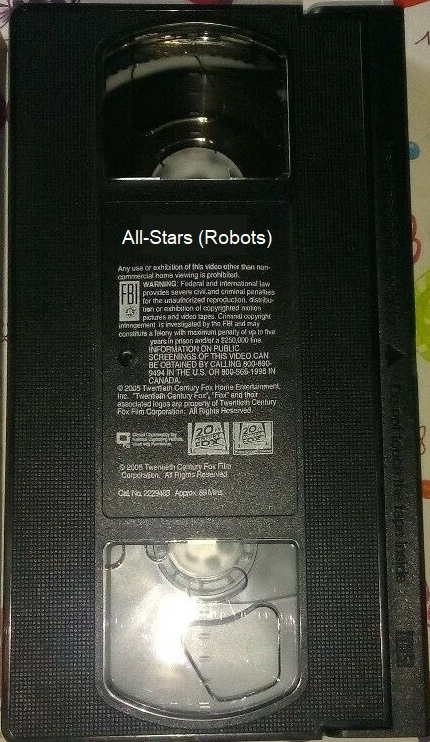 All-Stars (Robots) (VHS Tape)