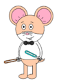 Mr. Danny Hamster (with two lightsabers (one orange and one blue))