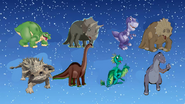 Eight Dinosaurs