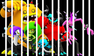 The Deadly Six in Trap in Cage
