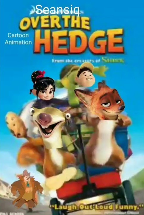 Over the Cartoon Animation Hedge