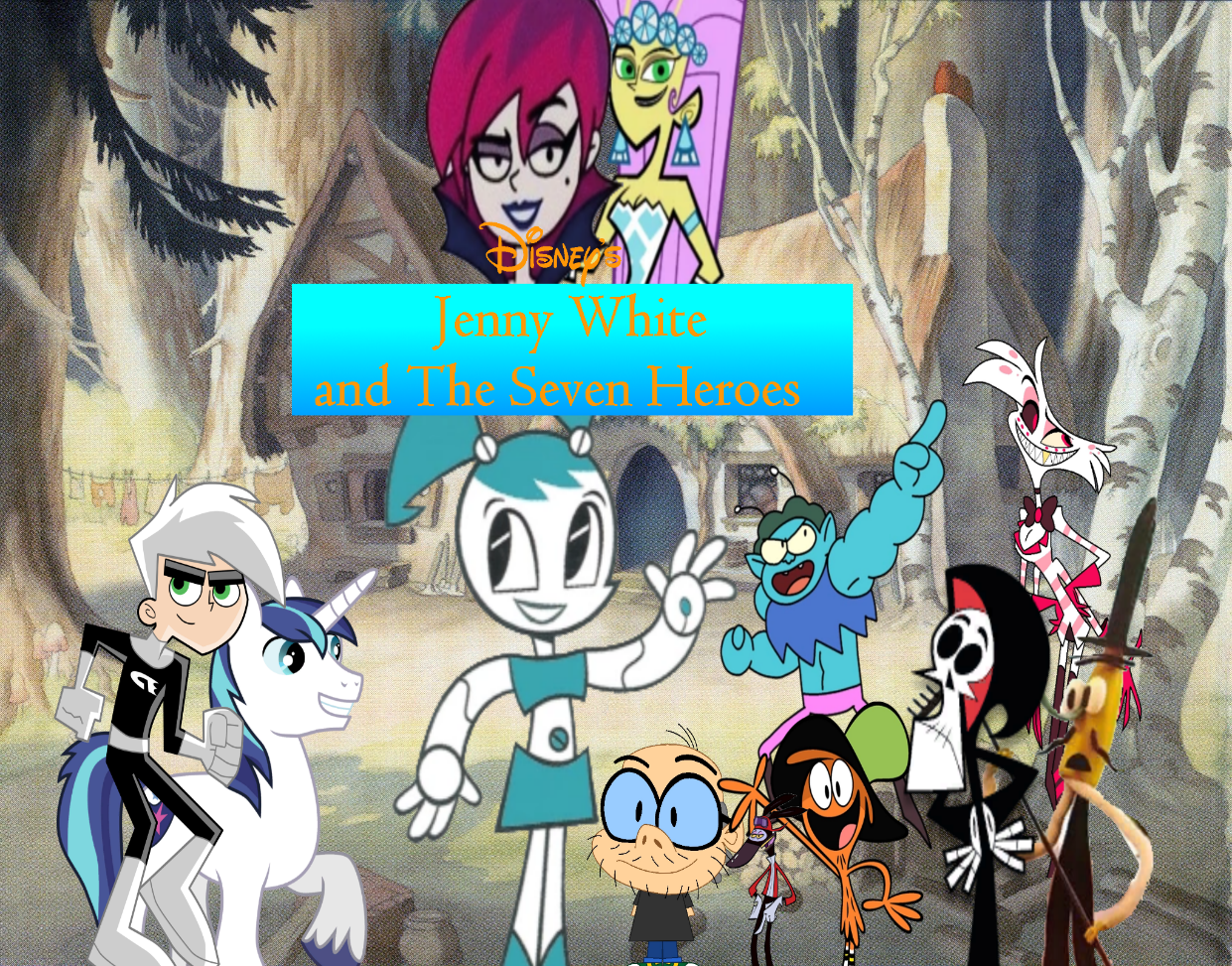 Disney 's Jenny White and The Seven Heroes 2017 Style