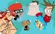 Everyone Having Fun with Frida Suarez, Asterix and Obelix by Thebackgroundponies2016Style