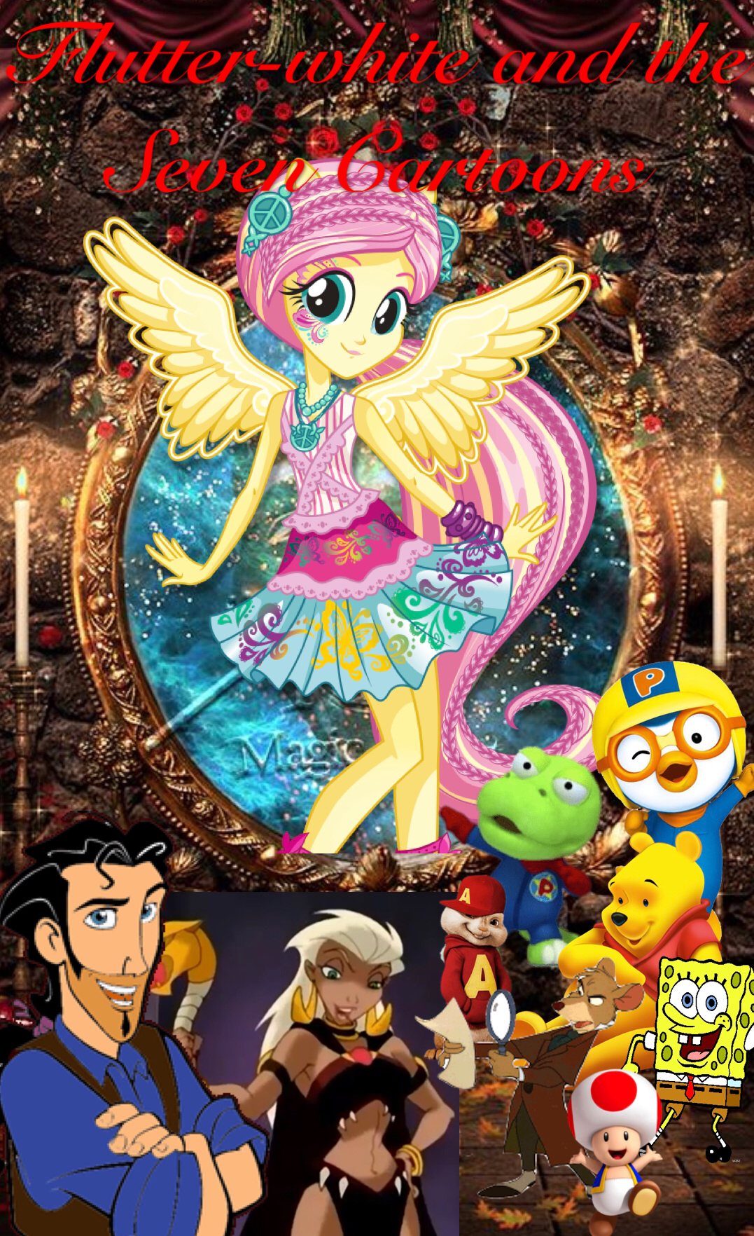 Flutter-White and the Seven Cartoons