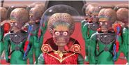 Martians (Mars Attacks) as Toad Security Guards
