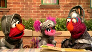 Elmo Abby and Telly as Knights