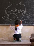 Sweetie on chalkboard by genie dragon daxd04x