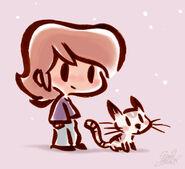 Petit bichon et chaton pilipili by princekido d6nmvdg