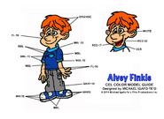 Bancy Studios Alvey Finkle Cel Color Model Guide by Michael IgafoTeo 10-28-2014