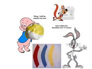 Porky Pig Inflates Bugs Bunny's Homemade Beach Ball