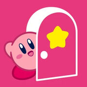 Kirby Opens the Door from Kirby Portal