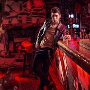 Nick Jonas at the bar