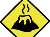 Lava Caution Sign