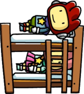 Maxwell and Lily on Bunk Bed