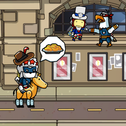 Scribblenauts Unmasked Yankee Poodle and Maxwell.png