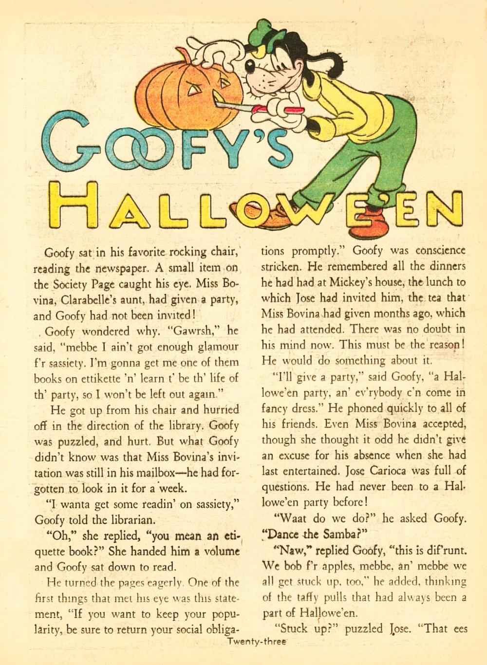 Goofy's Hallowe'en