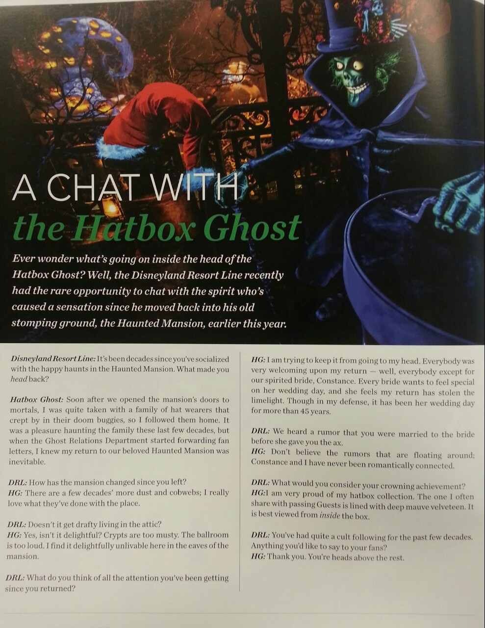 A Chat with the Hatbox Ghost