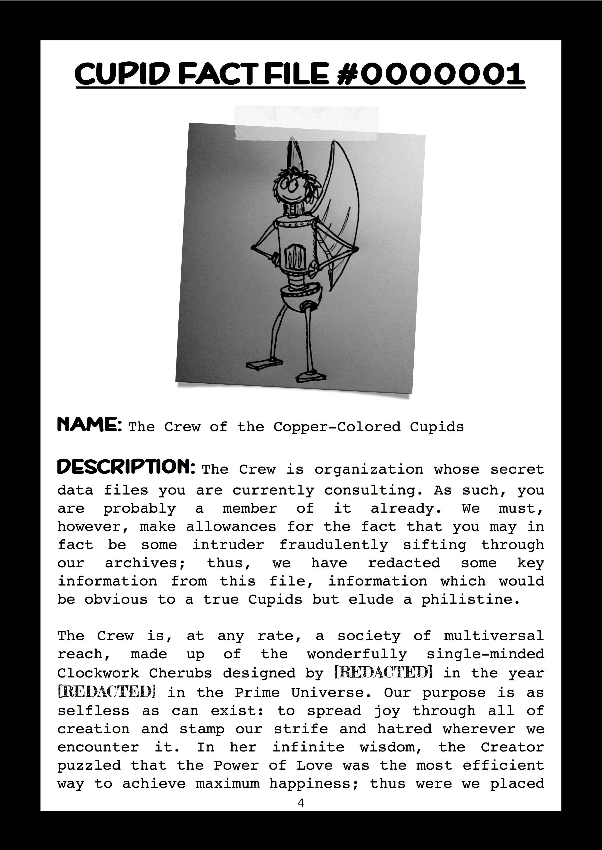 Cupid Fact File No. 001 — The Crew of the Copper-Colored Cupids