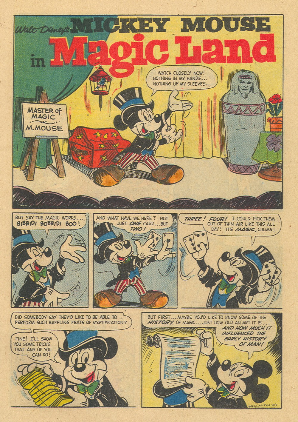 Mickey Mouse in Magic Land