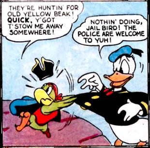 Donald Duck Rejects Yellow Beak