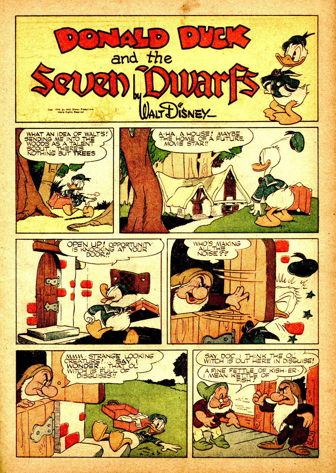 Donald Duck and the Seven Dwarfs