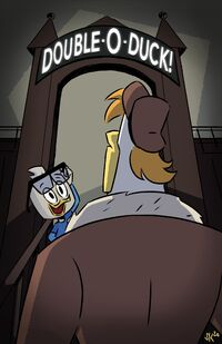 Sam King Double-o-Duck Poster