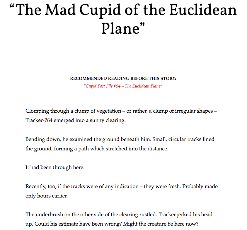 The Mad Cupid of the Euclidean Plane