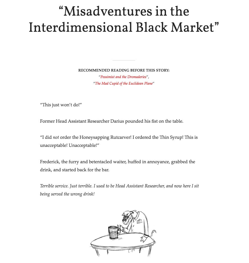 Misadventures in the Interdimensional Black Market