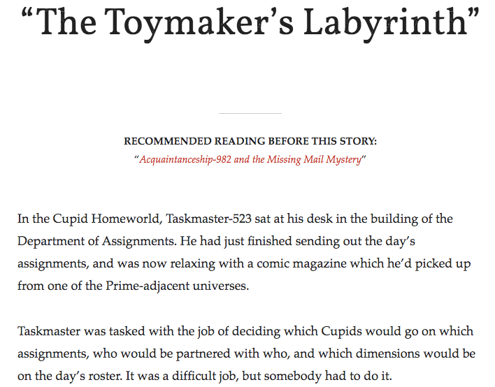 The Toymaker's Labyrinth