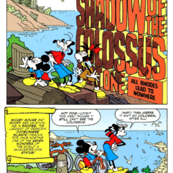Mickey Mouse and the Shadow of the Colossus