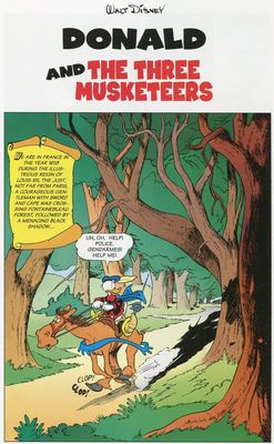 Donald and the Three Musketeers
