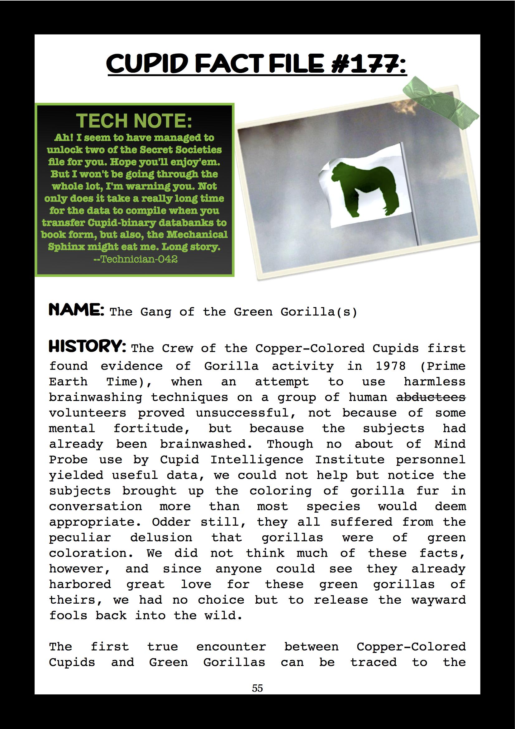 Cupid Fact File No. 177 — The Green Gorillas