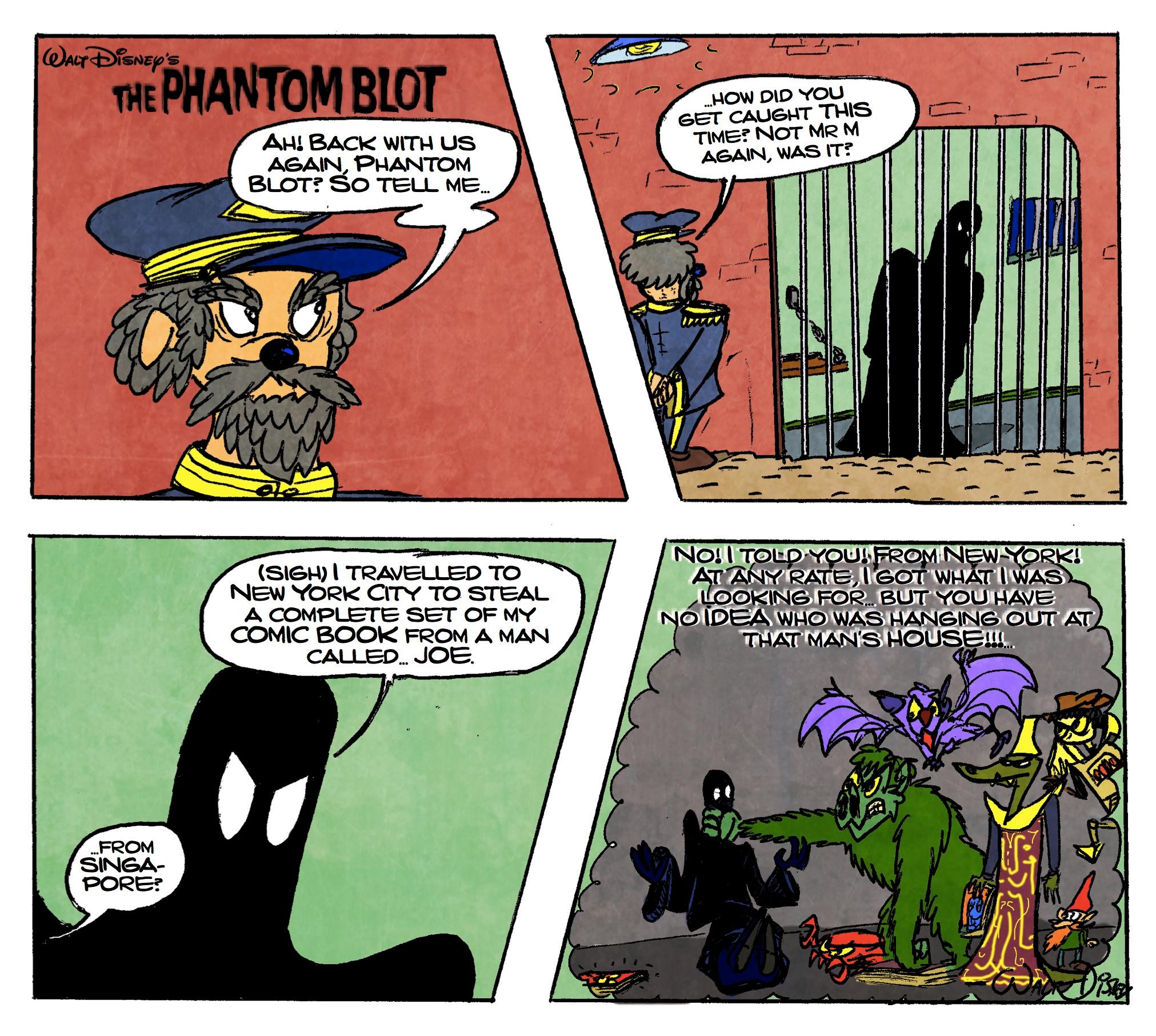 The Phantom Blot Visits Joe!