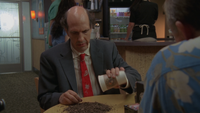 8x18 Ted pours out dirt
